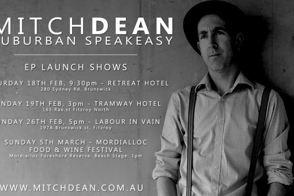 Suburban Speakeasy EP Release Shows