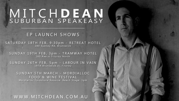 Suburban Speakeasy EP Release Shows